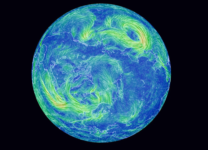 Real Time Wind Map Mesmerizing Earth Wind Map Shows Real Time Wind Conditions Around