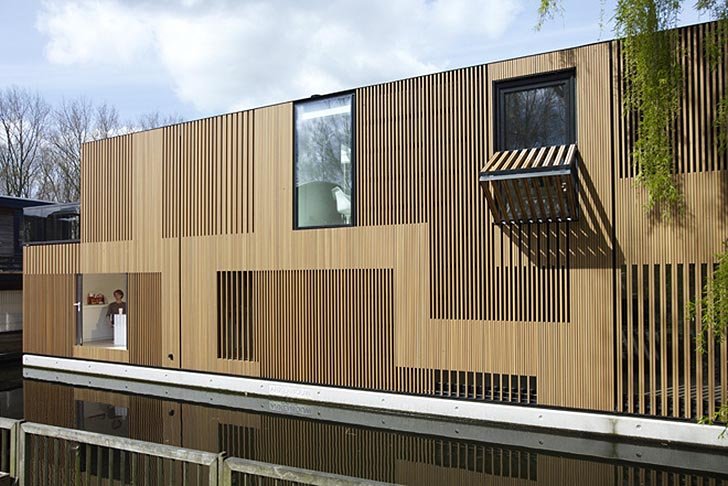 Rippling Wood Facade