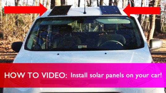 Video how to install solar panels on your car inhabitat for How to build a solar panel for kids
