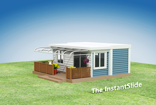 InstantSlide House, temporary housing, SMART2 houses, JAYZ Building Solutions, prefab homes, prefab temporary homes, shipping container homes, solar heat pumps, energy-efficient housing, transportable houses, Australian prefab houses