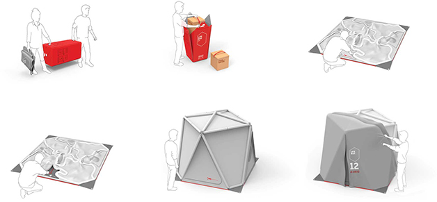 Life Box An Air Droppable Pop Up Recovery Shelter For