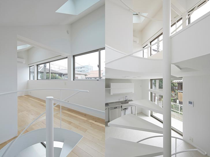 Long Window House By Another Apartment In Tokyo