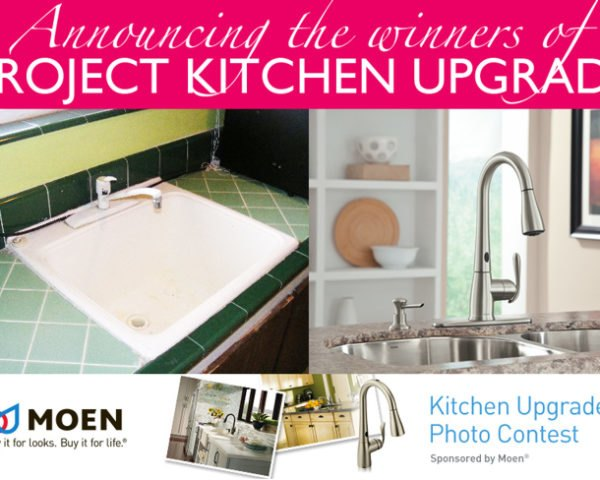 co-friendly faucets, eco-friendly faucets, eco-friendly kitchen, faucets with sensors, green faucets, green kitchen, how to upgrade my kitchen, inhabitat competition, inhabitat contest, kitchen renovation, moen, moen faucets, Moen MotionSense faucet, MotionSense, MotionSense faucet, Project Kitchen Upgrade, touch-free faucet, ugly kitchen, Ways to Green Your Kitchen