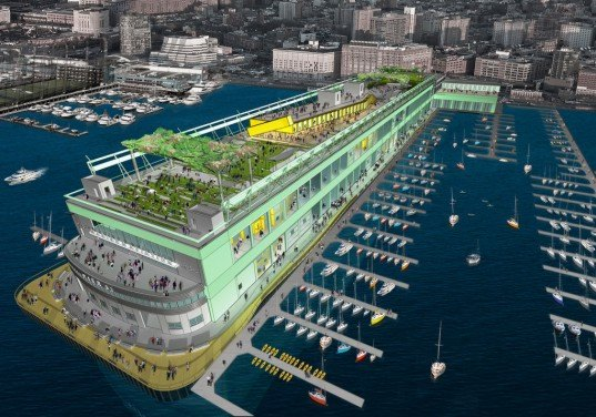 eco design, green design, modular retail complex, pier 57, shipping container construction, shipping container mall, super pier, SuperPier, sustainable design, youngwoo and associates