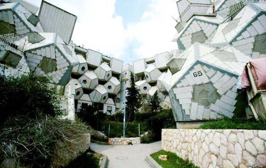 Zvi Hecker, Zvi Hecker Ramot Polin, Ramot Polin Jerusalem, Ramot Polin Israel, prefab housing Israel, social housing experiments, dodecahedrons architecture, architectural geometry, avant-garde architecture Israel, failed architecture, low income housing, social dwelling