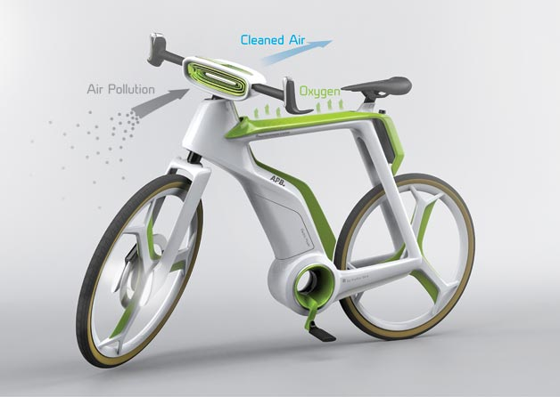 Photosynthesis Bike Purifies the Air as You Ride