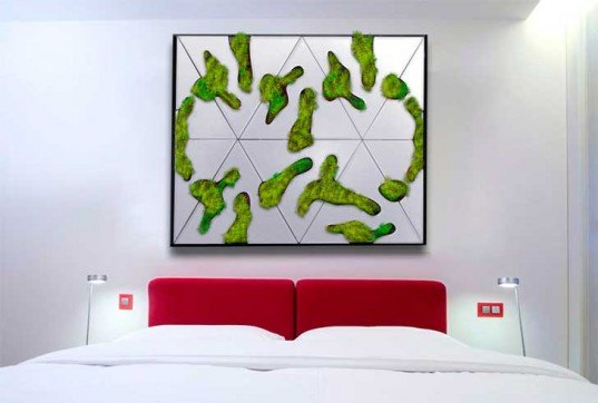 plantable concrete wall tiles, modular green wall system, Benjamin Pawlica, Deltaflore, integrated irrigation system, customizable green wall tiles, build your own living wall,