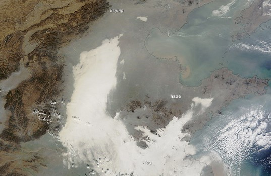 China's Air Pollution is So Bad it Can Be Seen from Outer Space