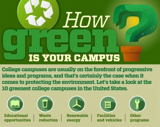 how green is your campus, green schools, infographic, green design, sustainable design, green university, green school, eco friendly university, green building, sustainable architecture, waste reduction, renewable energy