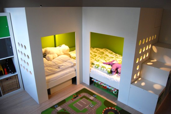 Ikea hack bed  9 Ingenious Ways to Hack IKEA Furniture for Tiny New York ...