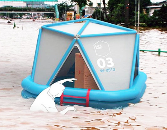 Emergency Shelters Product : Life box an air droppable pop up recovery shelter for
