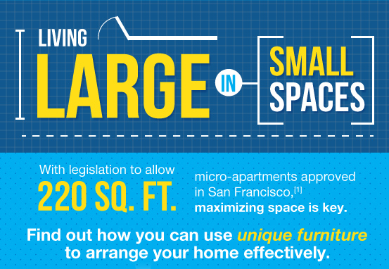 INFOGRAPHIC: How to Make the Most of a Tiny Micro Apartment