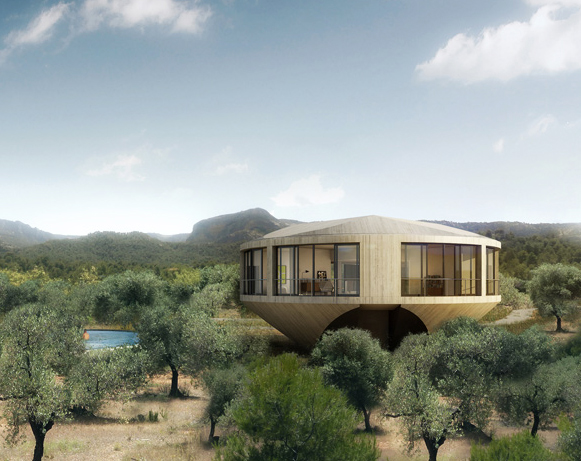 Exceptional Panoramic Round House Has A 360 Degree View Of The Spanish Countryside |  Inhabitat   Green Design, Innovation, Architecture, Green Building