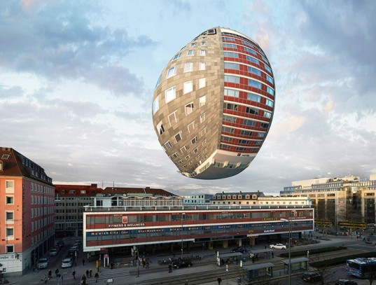 Víctor Enrich, NH Deutscher Kaiser hotel, NHDK, 88 different variations on one building, 3D manipulation of a 2D photograph, digital visualization, Munich architecture, 88 keys on a piano