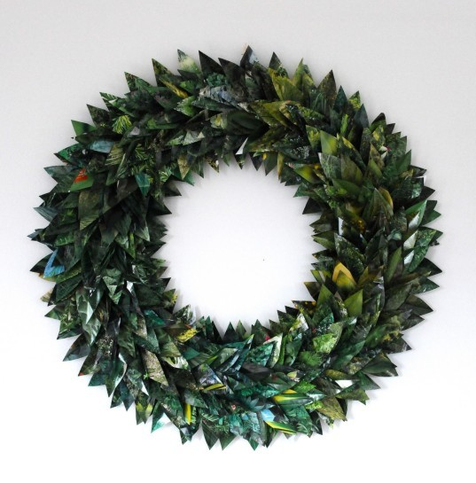 7 Festive Holiday Wreaths You Can Make From Recycled Materials News