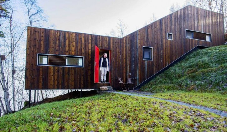 spectacular design dream home. Man Builds Spectacular Dream Home in the Norwegian Countryside  Architecture