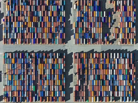 Aerial Views, Bernhard Lang, port of bremerhaven, aerial photographs, shipping containers, eco art, photography