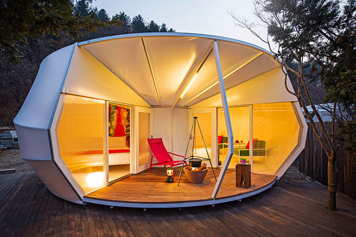 ArchiWorkshop Unveils Gorgeous 'Glamping' Tents Shaped Like Doughnuts