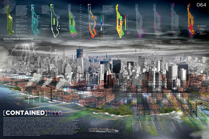 Architects Propose a Barrier of Garbage to Prevent Future Flooding in Manhattan