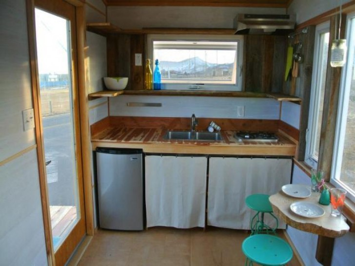 the durango tiny house on wheels is a minimalist travelers dream come true inhabitat green design innovation architecture green building - Tiny Home Kitchen Design