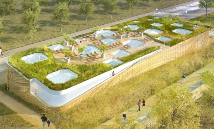 Mikou studio 39 s feng shui swimming pool provides a for Pool design france