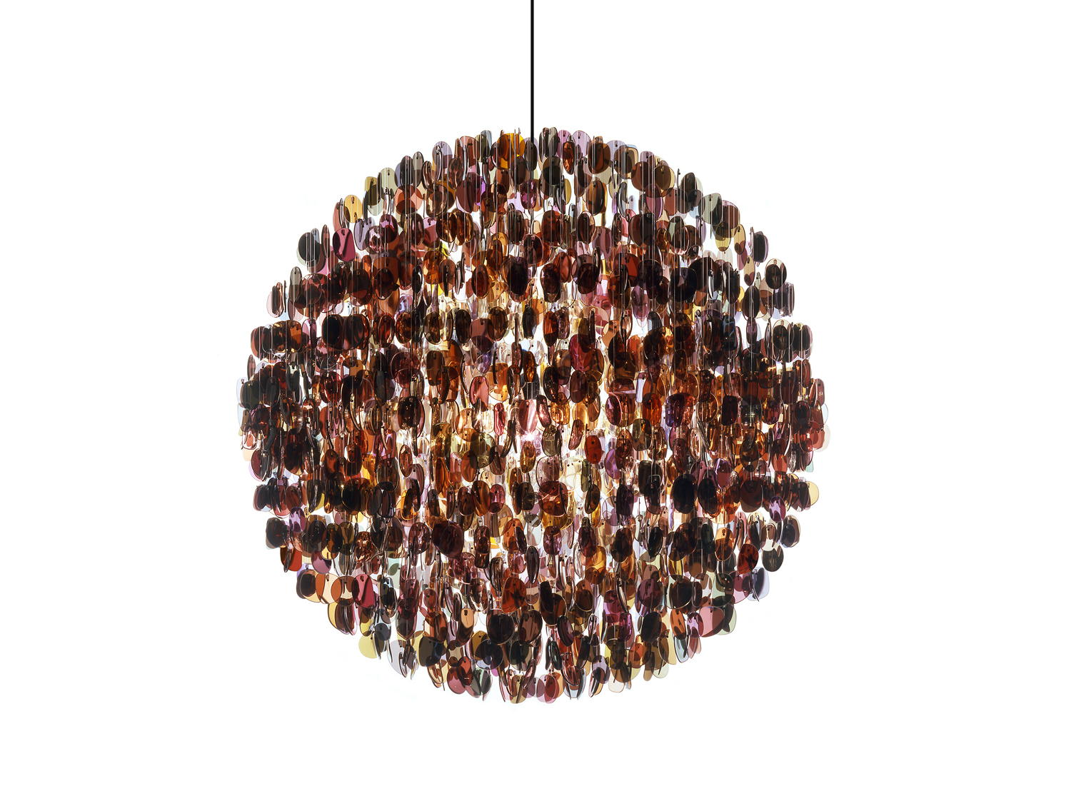 Stuart Haygarth's Opulent Chandeliers Are Made Entirely from Recycled Objects