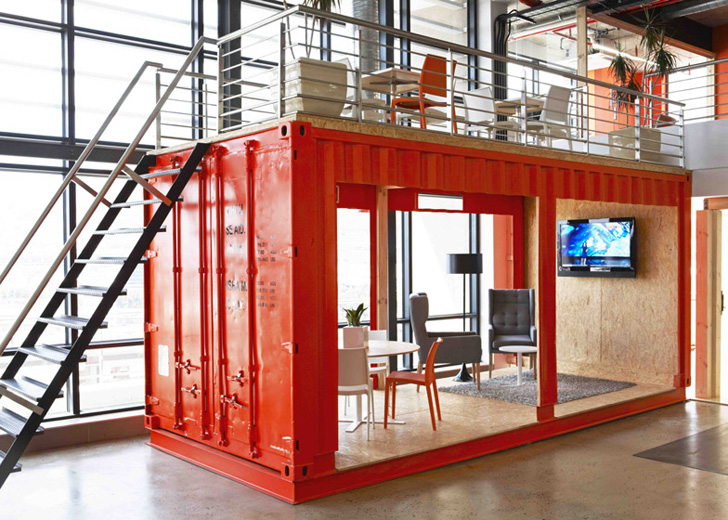 Delightful Inhouse Brands Converted A Shipping Container Into 99cu0027s Colorful Waiting  Room In Cape Town | Inhabitat   Green Design, Innovation, Architecture, ... Part 32