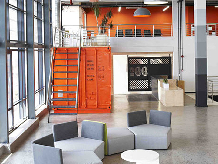 container office design. Inhouse Brands Converted A Shipping Container Into 99c\u0027s Colorful Waiting Room In Cape Town | Inhabitat - Green Design, Innovation, Architecture, Office Design