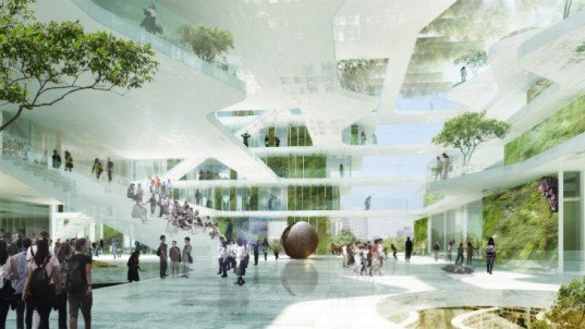 Island School, Schmidt Hammer Lassen, hong kong, eco school, thomas chow architects, daylighting, green school