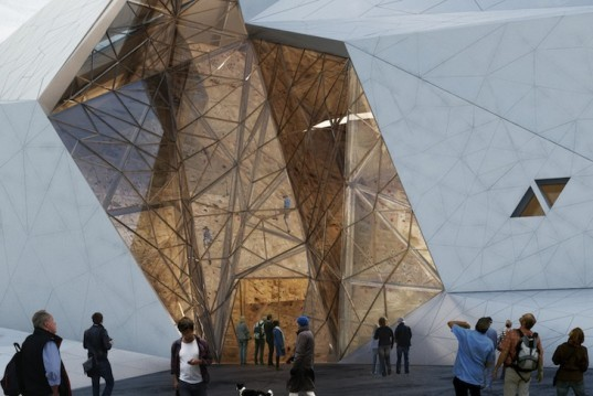 polur, New Wave Architecture, rock climbing, mount damavand, rock climbing hall, moment resisting frames, tubular trusses, base camp, mountaineering, fiber cement panels