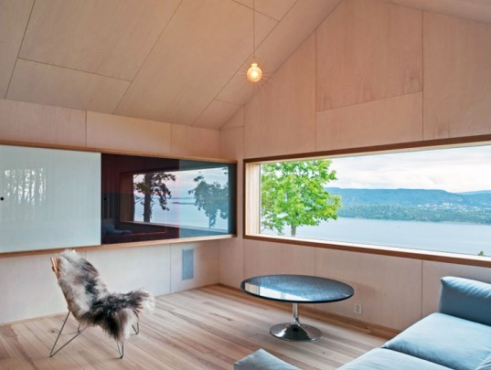 Schjelderup Trondahl Architects, Holmestrand House, architecture, norway, norwegian fjords, double gabled home design, m-shaped houses, interior design, patina effect, landscape architecture