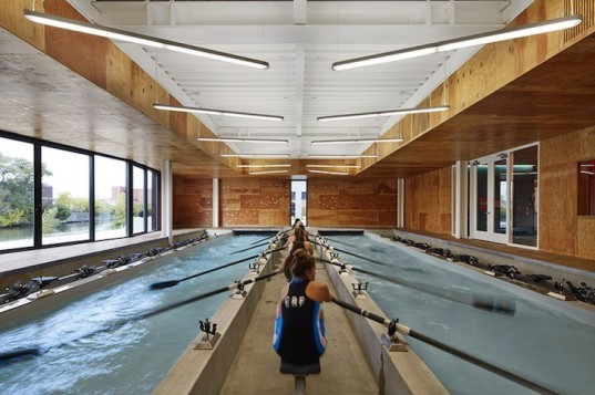 studio gang architects, boathouse, chicago river, clark park, wms boathouse, rowing facility, sweep rowing, Rahm Emanuel, hicago Rowing Foundation, passive solar design