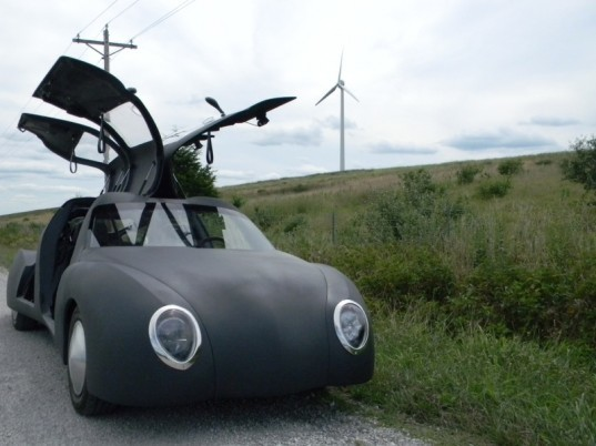 This Batmobile-esque Electric Car Built in a Barn is Capable of 207.5 MPG!