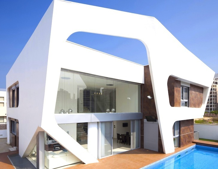 ... Facade Wraps Around Contemporary House In Israel. Architecture