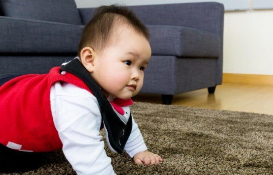 baby, baby crawling, baby on carpet