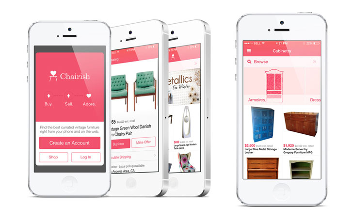 Chairish launches a new app that makes finding and selling for Furniture placement app