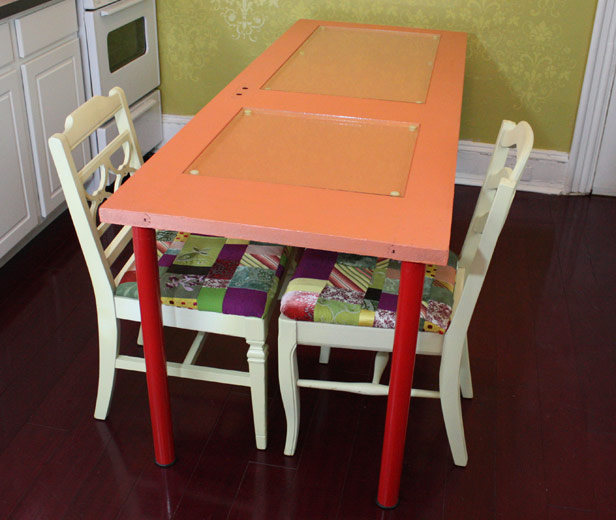 DIY: Learn How To Make A Colorful Dining Table Using A Recycled Door