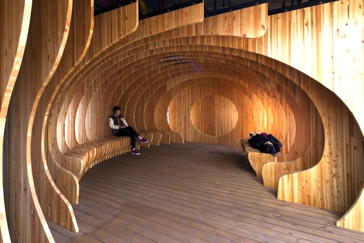 Good UTAA Carves A Wooden Ribbed Rest Spot From A Former Parking Lot In Seoul |  Inhabitat   Green Design, Innovation, Architecture, Green Building