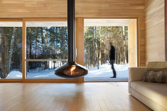 green design, eco design, sustainable design, flexible living space, YH2 Architects, Quebec winter home, secondary homes, La Luge