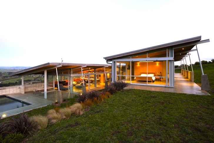 Beautiful foothills house showcases passive solar design for Design house architecture nz