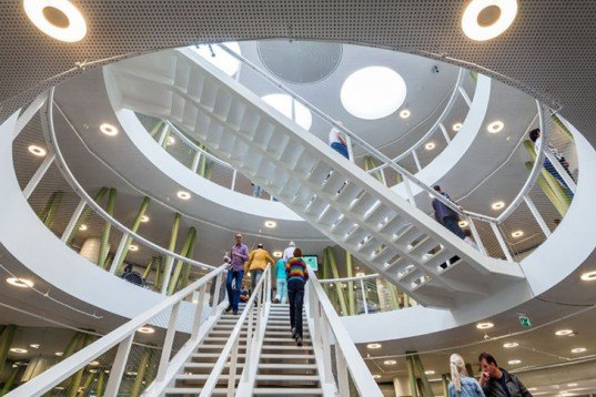 BDG Architects, Dutch design, Stoas Vilentum University, cylindrical architecture, Architecture, Daylighting, energy efficiency, green Interiors, round building,