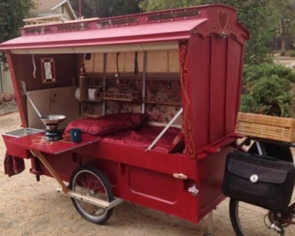 Builds a Bicycle-Propelled Micro Wagon