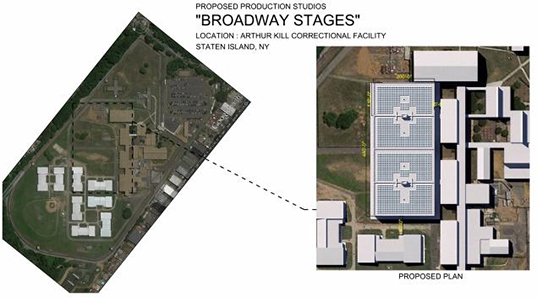 Greenpoint, Brooklyn, Queens, Staten Island, Broadway Stages, Arthur Kill Correctional Facility, sound stages, 69-acre Staten Island movie studio, Empire State Development, movie studio, Staten Island movie studio