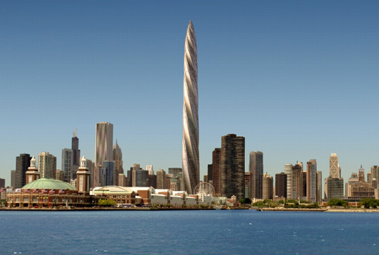 Calatrava Chicago Spire, Chicago tower, spiraling tower chicago, Atlas Apartment Holdings, building developers Chicago, Shelbourne Development Group, financial crisis Chicago, tower bankruptcy, US tallest buildings, tallest towers, world tallest buildings