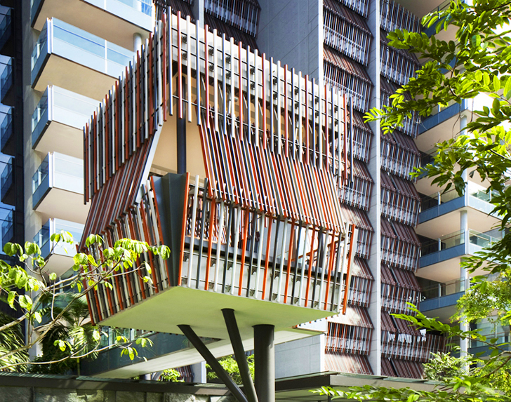 Treehouse-Like Huts at WOHA's Goodwood Residences Serve as