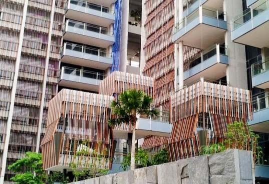 WOHA Architects, woha goodwood residences, singapore woha, singapore architecture, asian traditional textiles, green buildings, green architecture, green facades, natural lighting, treehouse design