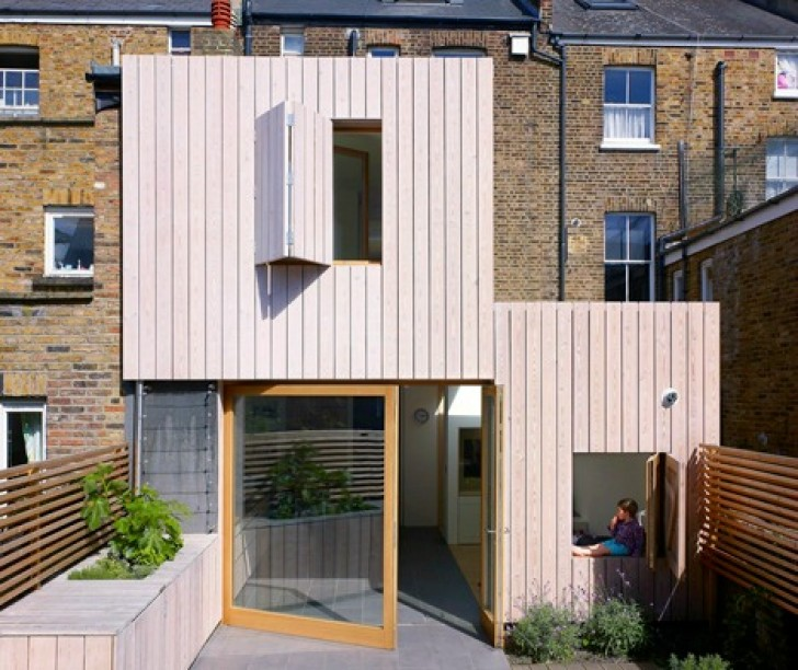Hayhurst and Co., Hampstead Beach House, London renovation, architecture, beach inspired renovation, urban design, larch cladding, victorian home renovation, London Borough of Camden