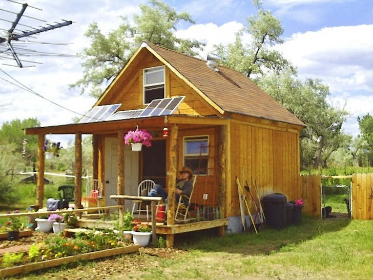 Author Builds Tiny Solar-Powered Off Grid Cabin for Under $2,000!