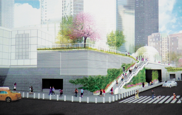 Plans for World Trade Center Liberty Park Include 300-Foot Living Wall