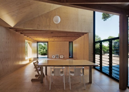 Kari Loop House, MORQ architects, treehouse design, architecture, italian architects, homes built around trees, home design, environmental home design, homes in perth, australia, timber homes, kari trees, indigenous trees and home design, raised home design, steel tripod footings